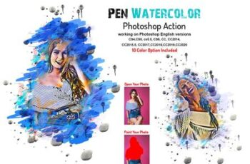 Pen Watercolor Photoshop Action 5877779 14
