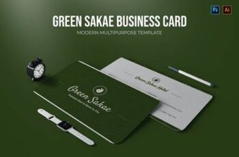 Green Sakae - Business Card 6TDU5WV 8