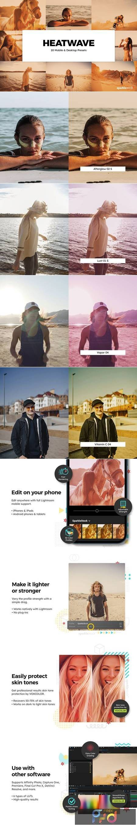 20 Heatwave Lightroom Presets & LUTs Q8E4KNR 1