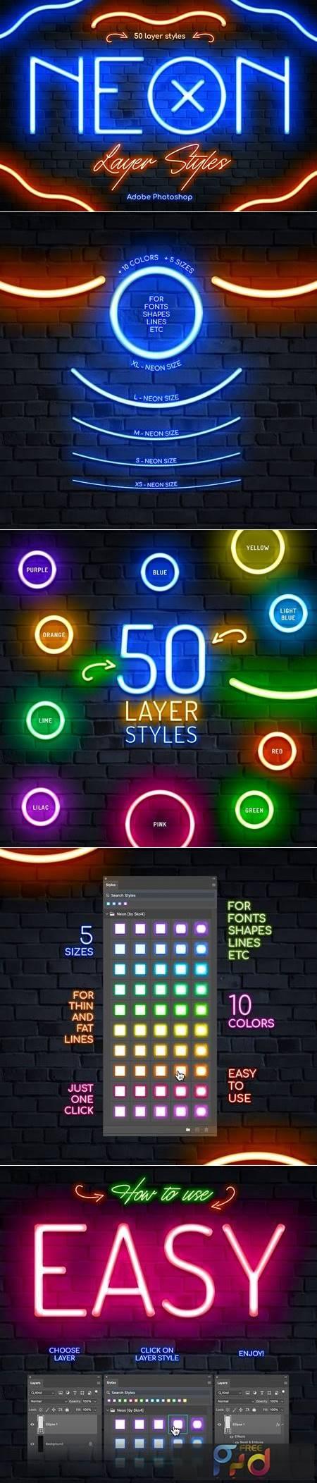 Neon Photoshop Layer Styles P6CYA3S 1