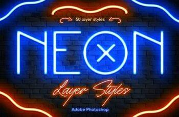 Neon Photoshop Layer Styles P6CYA3S 2