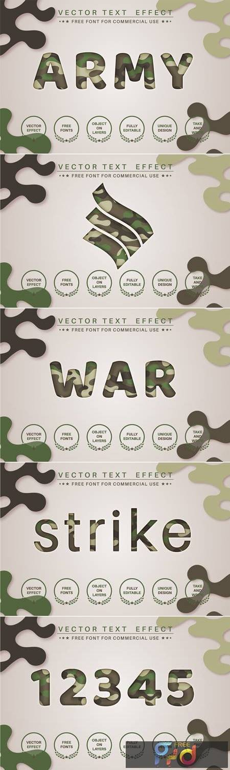 Paper military - editable text effect, font style RQV95L6 1