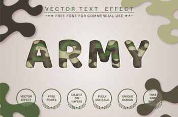 Paper military - editable text effect, font style RQV95L6 1