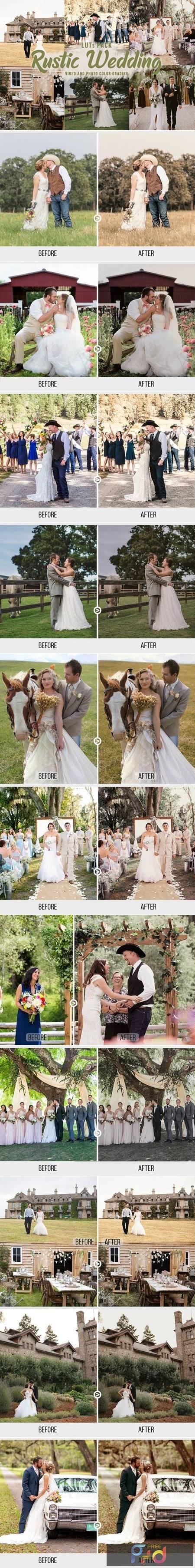 Rustic Wedding LUTs - Video Color Grading Filters PELW3D8 1