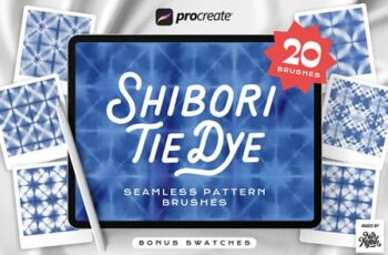 Procreate Tie Dye Shibori Seamless Pattern Brushes G3DW8XW 10