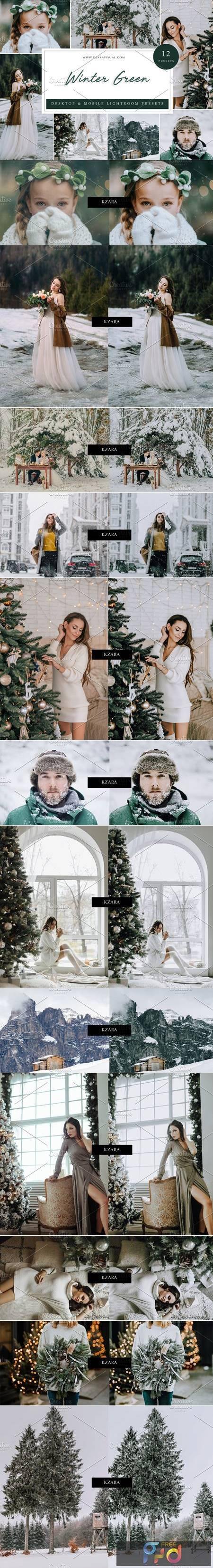 12 x Lightroom Presets, Winter Green 5962772 1