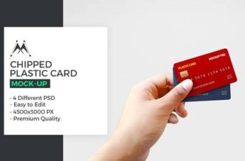 Chipped Plastic Card in Hand Mockup 5946311 8