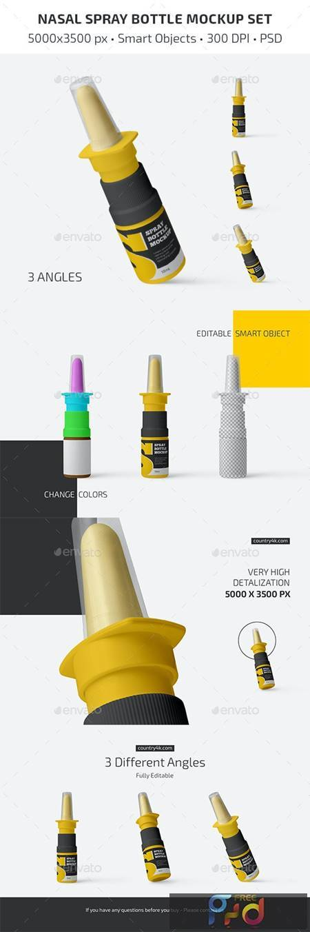Nasal Spray Bottle Mockup Set 31303210 1