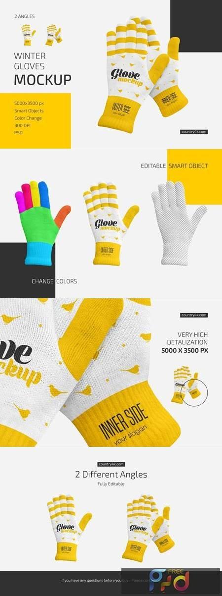 Winter Gloves Mockup Set 6016401 1