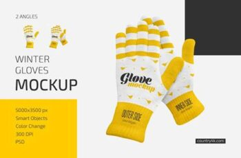 Winter Gloves Mockup Set 6016401 2