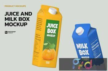 Juice and Milk Box - Mockup 93WP9FK 14