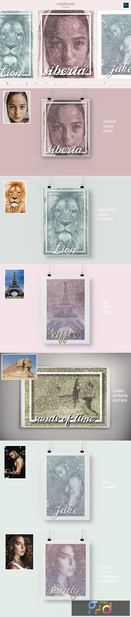 Stamp portrait Photoshop Action 5933908 1