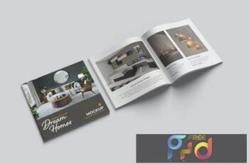 Square Brochure and Catalog Mockup 4V3YUL7 11