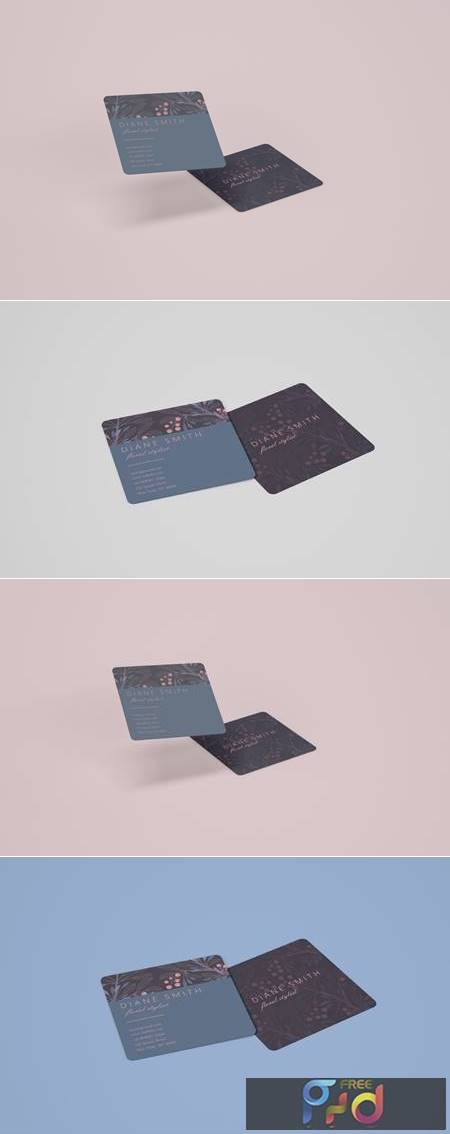 Square Business Card Mockup VCQPQLQ 1