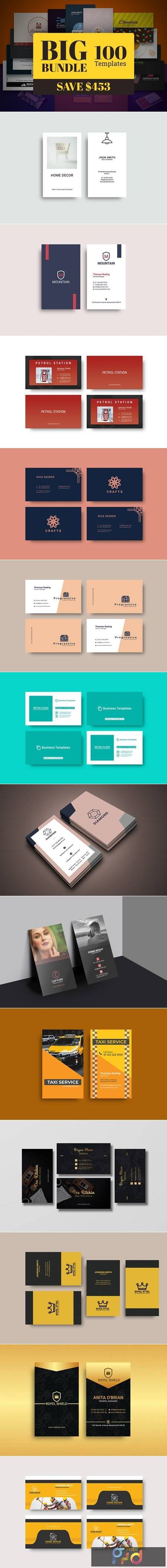 100 Business Card Template Bundle 5910107 1