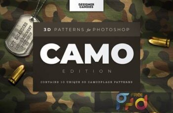 3D Camo Camouflage Patterns XV83PSS 4