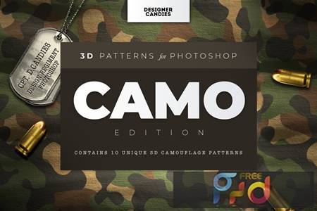3D Camo Camouflage Patterns XV83PSS 1