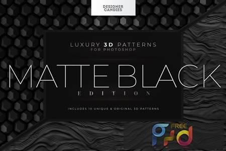 3D Matte Black Patterns Z6VEE9A 1