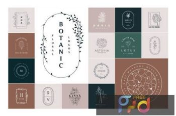 50 Botanical & Floral Logos Q7DECYH 6