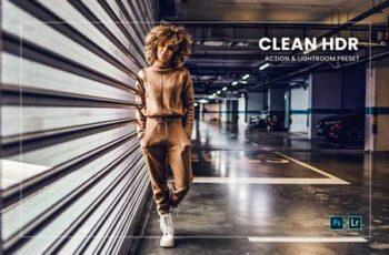 Clean HDR Action & Lightroom Preset Q7XSHDD 6