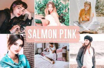 Salmon Pink Mobile & Desktop Lightroom Presets GW4FXDR 2