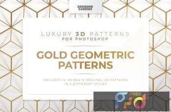 Gold Geometric Patterns T869NQ5 4