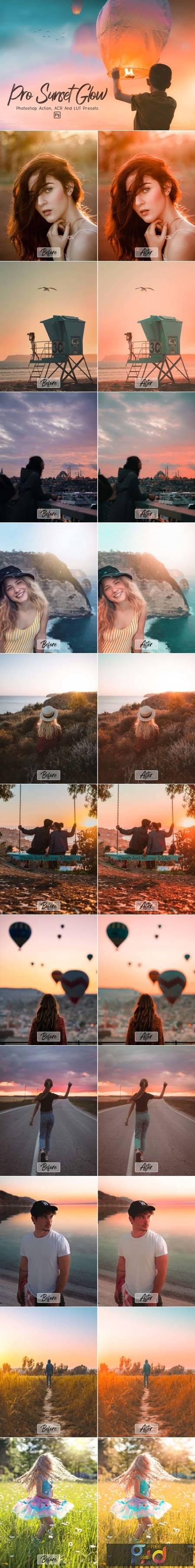 Pro Sunset Glow Photoshop Actions 9203812 1
