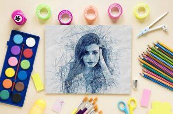 Scribble Sketch Photoshop Action 31050617 2