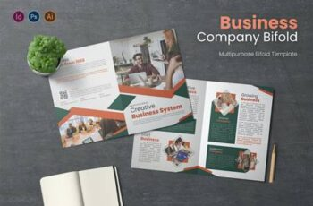 Business System Bifold Brochure 738U4RF 8