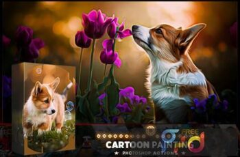 Cartoon Oil Photoshop Action GVSYXH3 8