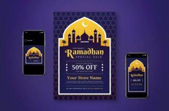 Ramadhan Sale Flyer Set C3GHME5 2