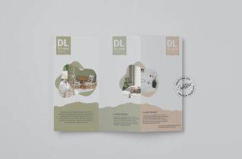 Realistic DL Brochure Trifold Mockup D2RHP6N 4