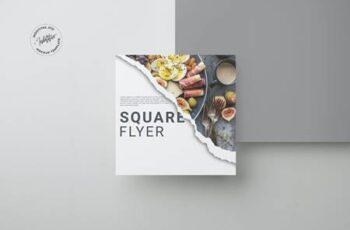 Realistic Square Brochure Mockup YZ7MR3T 3