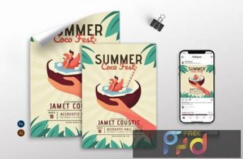 Summer Coco Fest - Flyer, Poster & Instagram GR AKABNMR 3