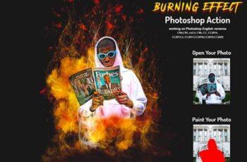 Burning Effect Photoshop Action 5999913 8
