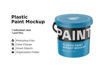 Glossy Plastic Bucket Mockup 6063383 7
