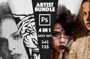4 in 1 Artist Bundle Photoshop Actions 31038403 2