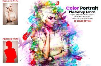 Color Portrait Photoshop Action 5919419 1