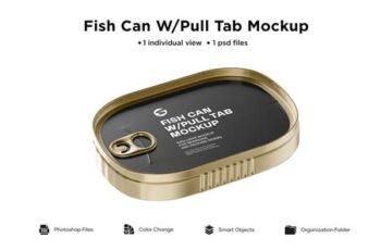Metallic Fish Can W- Pull Tab Mockup 6063378 2