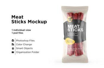 Plastic Bag With Meat Sticks Mockup 6063382 5