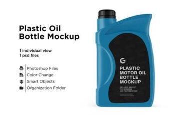 Plastic Motor Oil Jerrycan Mockup 6063386 4