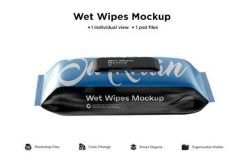 Wet Wipes Pack With Plastic Mockup 6063397 2