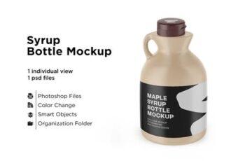 Matte Plastic Maple Syrup Bottle 6063334 1