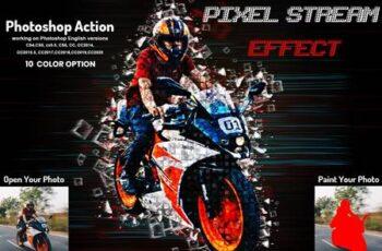 Pixel Stream Effect Photoshop Action 5950260 10