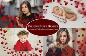 Falling Paper Hearts photo overlays 5791182 5