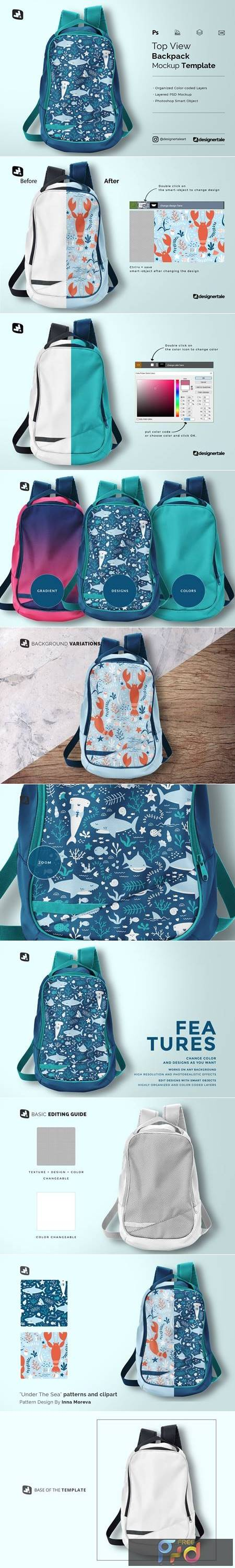 Top View Backpack Mockup 5345372 1