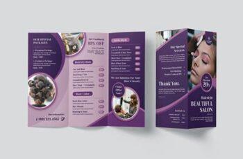 Beautiful Salon Trifold Brochure 2Q56VNV 1