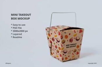 Mini Takeout Box Mockup P82NT7A 9