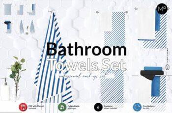 Bathroom Towel Set Mock-ups 6001005 5