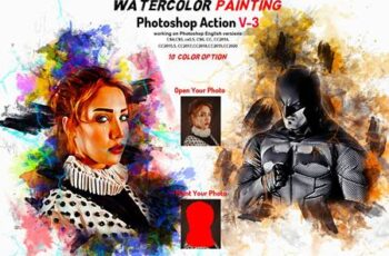 Watercolor Painting Photoshop Action 5906108 4